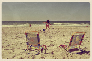 Beach Day Postcard - Grunge